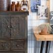 rangement en bois vintage