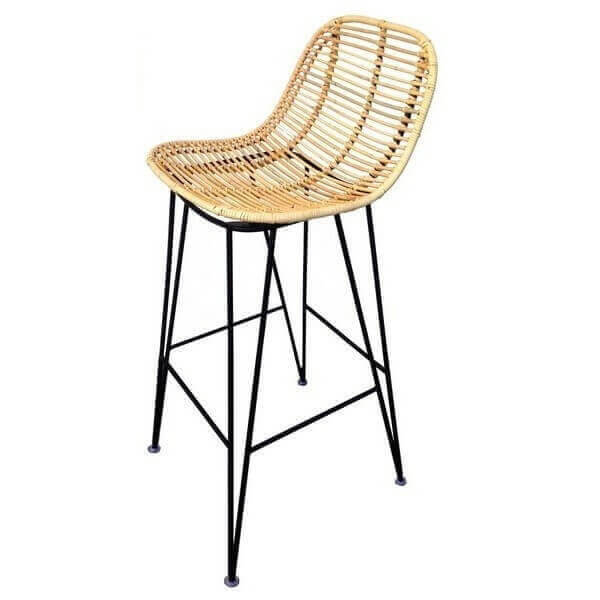 Black Grafik bar stool