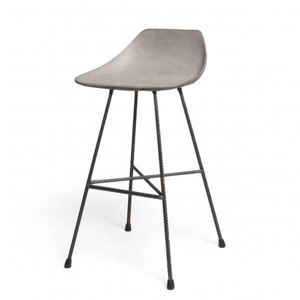 chaise bar Béton acier