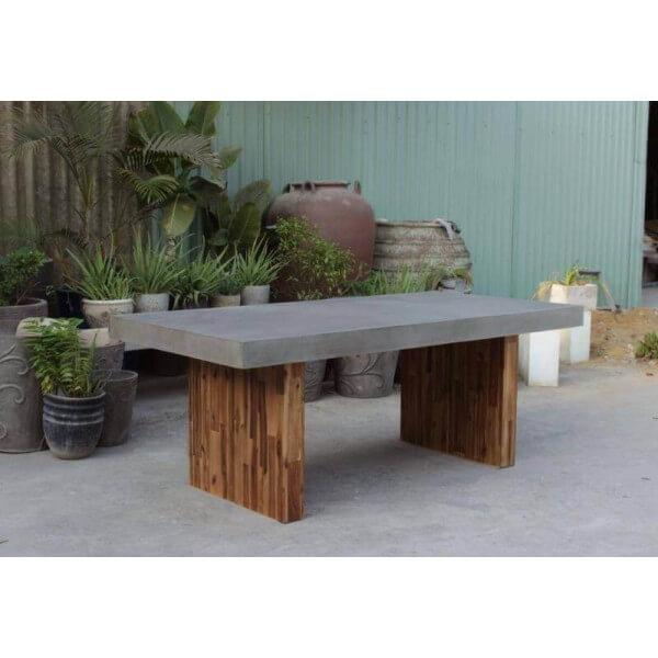 Table repas beton - Table bois beton ...