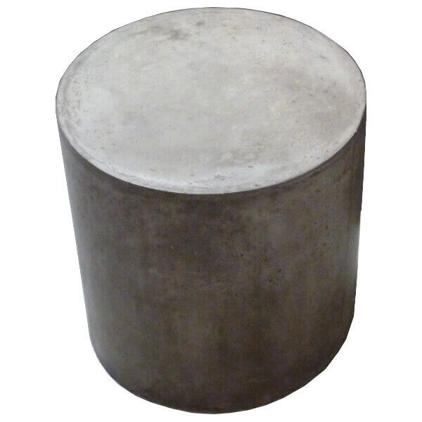 tabouret pouf table rond gris b ton. Black Bedroom Furniture Sets. Home Design Ideas