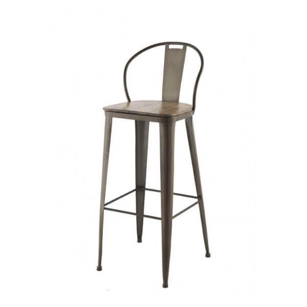Industrial bar chair - Chaise de bar rotin ...