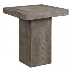 Table haute béton carrée