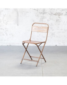 Foldable copper chair
