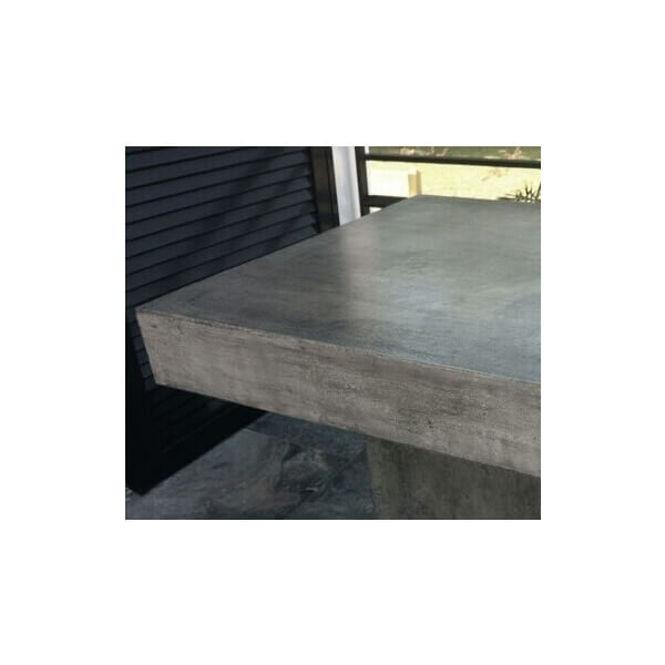 Table haute b ton for Table exterieur beton