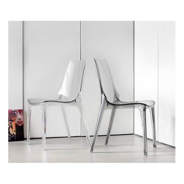 Chaise transparente Lypo fumé