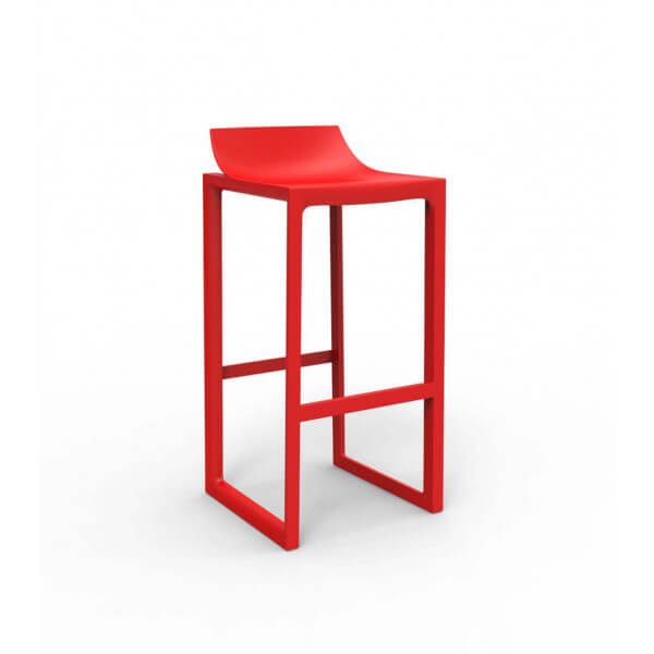 Tabouret bar design rouge