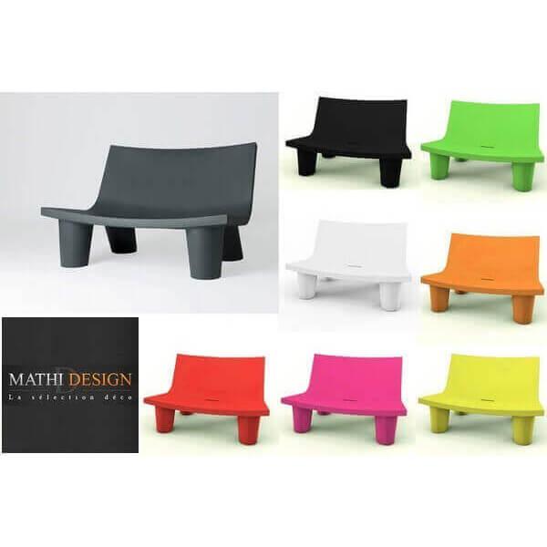slide banc exterieur low lita mobilier design de jardin decoration lounge et moderne professionne. Black Bedroom Furniture Sets. Home Design Ideas