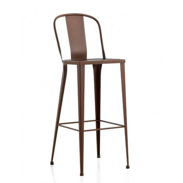 Grey outdoor bar stool