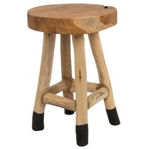 Tabouret en bois assise 45 cm