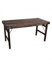 Table marron vintage pliante