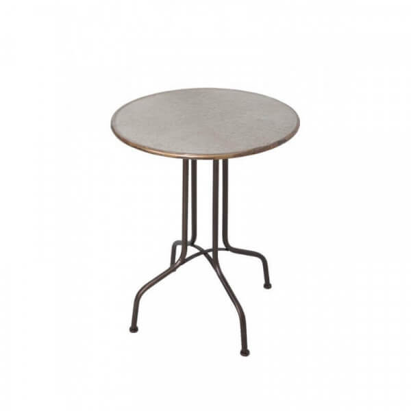 Table d 39 appoint ronde en zinc for Table ronde d appoint