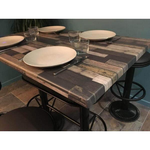 table haute industrielle deauville. Black Bedroom Furniture Sets. Home Design Ideas