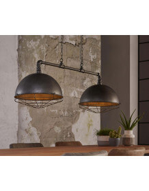 Triple industrial pendant lamp