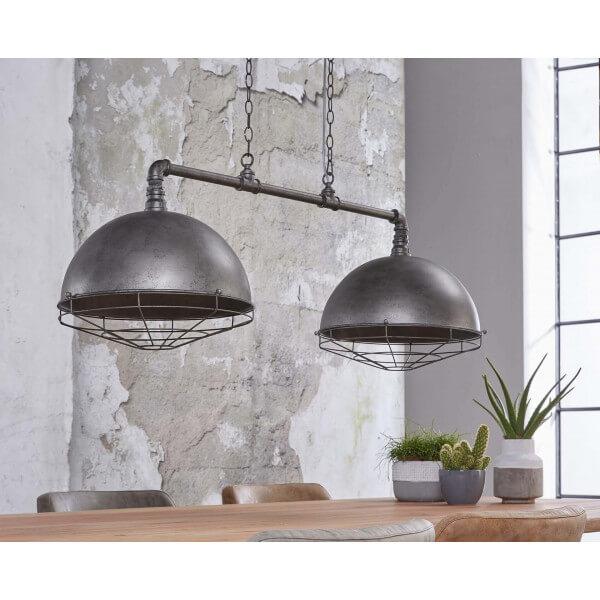suspension double industrielle. Black Bedroom Furniture Sets. Home Design Ideas