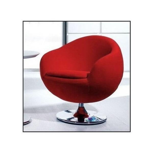 Design red armchair Ball
