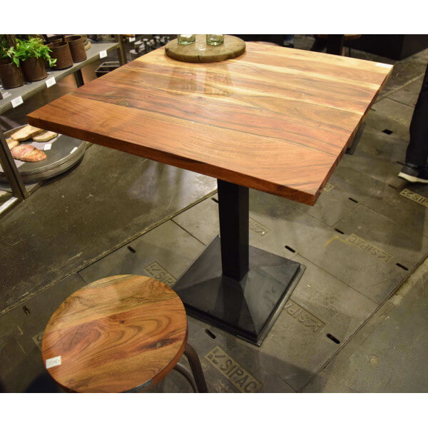 Square table with Acacia top