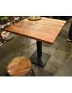 BODEGA - Table carree bois/acier