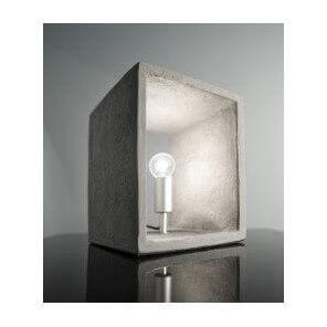 Square concrete lamp