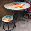 Dining table California with stool