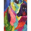Tableau pop art chien bulldog