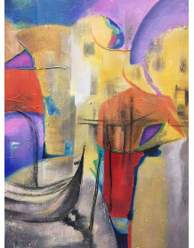 Abstract painting Venise