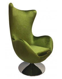 Green armchair Suede