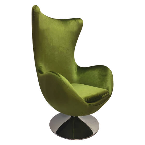 Green Armchair Suede