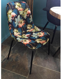 Chaise repas tissu Flamants rose