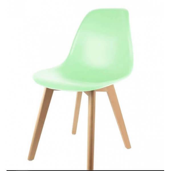 Chaise Repas Pop Vert Pastel