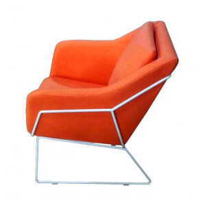Fauteuil salon orange