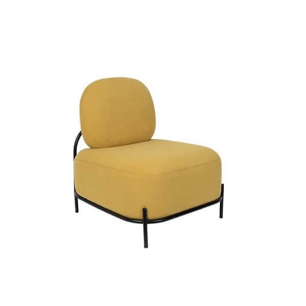 Fauteuil jaune moutarde Popy