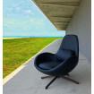 fauteuil design Space bleu