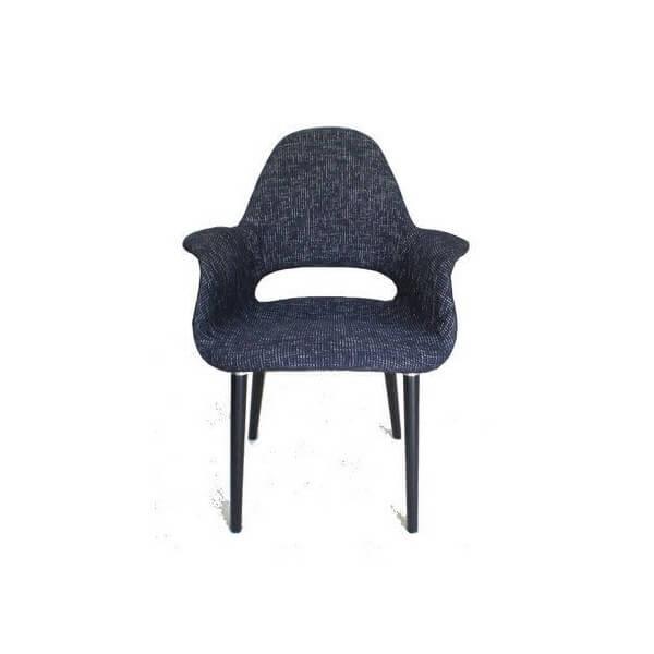Oslo armchair black Tweed