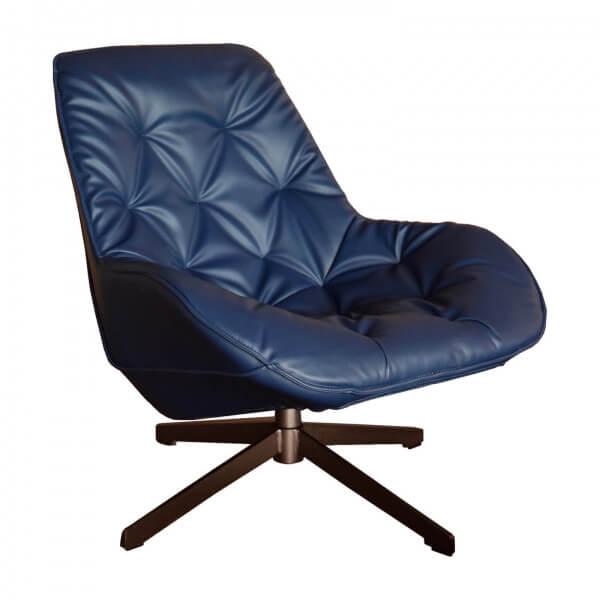 Fauteuil confortable Trek bleu