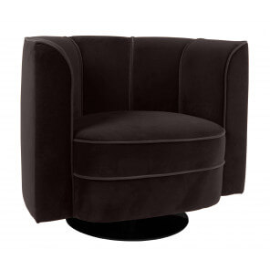 Black Flower lounge chair