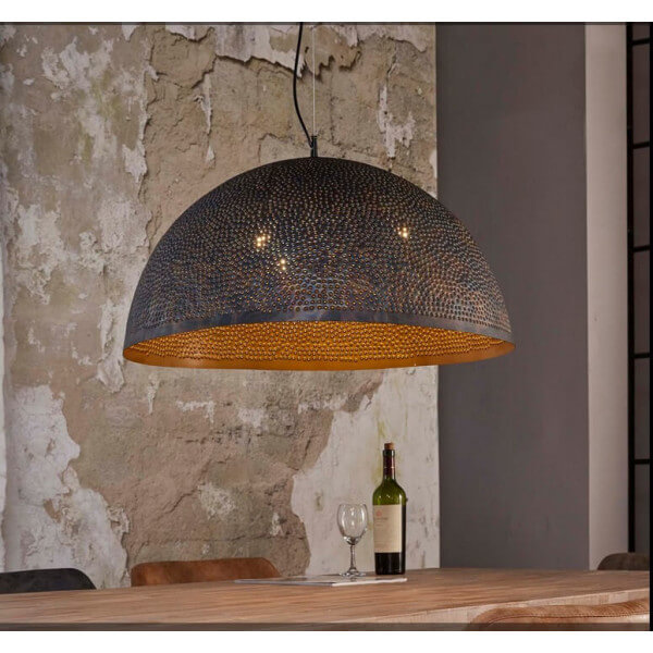 Iron hanging cupola lamp