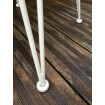 White Grafik bar stool-leg