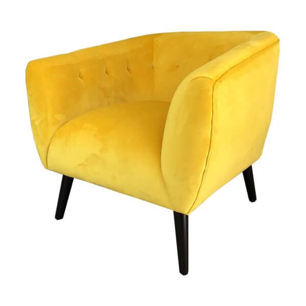 Yellow Lulea armchair