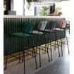 Velvet bar stool Benson Zuiver