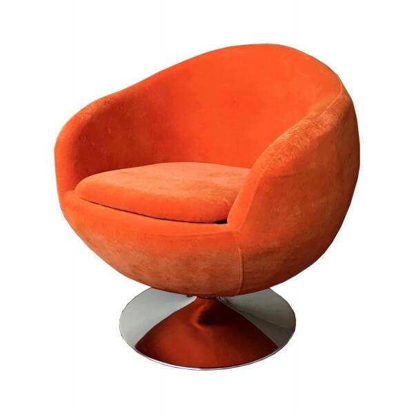 Fauteuil design Ball orange