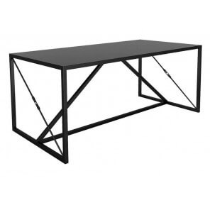 Black steel Dining or desk table