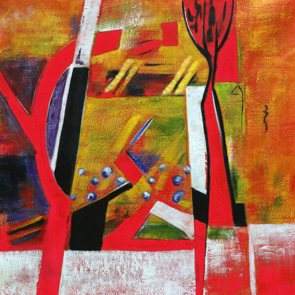 Tableau abstrait Paon