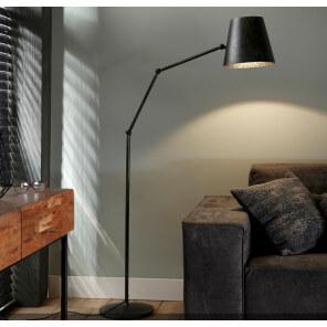Iron industrial floor lamp