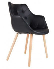Chaise Twelve simili cuir