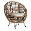 Fauteuil rond ball rotin
