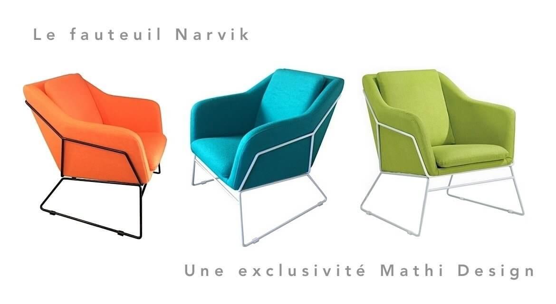 Scandinavian style armchair Narvik